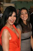 WESTWOOD, CA - NOVEMBER 05: Maria Conchita Alonso and Natalie Martinez at a Special Presentation of