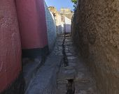 picture of ethiopia  - Narrow alleyway of ancient city of Jugol in the morning - JPG