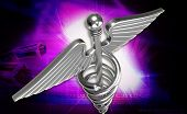 picture of sceptre  - digital illustration of 3d medical icon on a color background - JPG