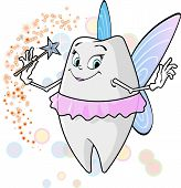 stock photo of tooth-fairy  - A tooth fairy with her magic wand - JPG