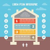 stock photo of structure  - Infographic Business Concept  - JPG