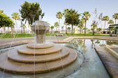 foto of fountain grass  - A view of Molos Promenade on the coast of Limassol city in Cyprus - JPG