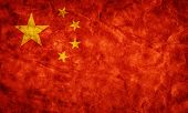 image of communist symbol  - China grunge flag - JPG