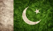 image of pakistani flag  - Pakistan grunge flag - JPG