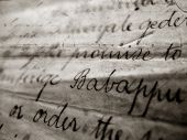 picture of annal  - Close up of vintage handwriting for background - JPG