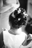 image of flower girl  - Girl at a wedding - JPG