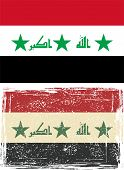 stock photo of iraq  - Iraq grunge flag - JPG