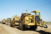 foto of heavy equipment  - Heavy equipment at a residential construction site - JPG