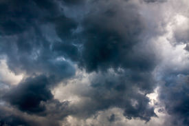 stock photo of ozone layer  - abstract background from the sky and dark storm clouds - JPG