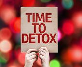 picture of nutrients  - Time To Detox card with colorful background with defocused lights - JPG
