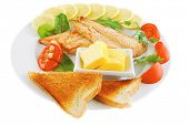 foto of butter-lettuce  - roast salmon and butter with tomatoes and lemon - JPG