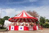 picture of merry-go-round  - isolate for the white and red merry - JPG