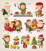 image of elf  - Set of Santa - JPG