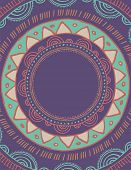 picture of bohemian  - Tribal Bohemian Mandala background with round ornament pattern - JPG
