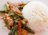 picture of thai food  - Thai food Thai spicy food Fried pork - JPG