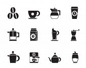 picture of sugar industry  - Silhouette coffee industry signs and icons  - JPG
