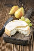 picture of brie cheese  - french soft cheese - JPG