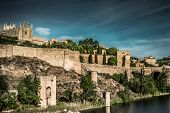 pic of parador  - Toledo over sunset - JPG