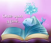 image of storybook  - A storybook with a whale - JPG