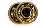 picture of ball bearing  - Ball bearing on white background in closeup - JPG