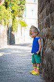 pic of boy girl shadow  - little boy in the coastal - JPG
