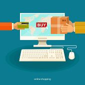 image of electronic commerce  - Online shopping  - JPG