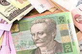 foto of american money  - european and american money background - JPG
