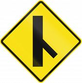 picture of intersection  - Chilean road warning sign - JPG