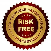 Постер, плакат: Risk Free Satisfaction Guarantee Stamp