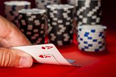 picture of poker hand  - poker game - JPG