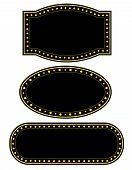 picture of marquee  - Glowing Retro Theater Marquee border  - JPG