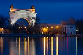 pic of lenin  - View from the second gateway to the first lock of the Volga - JPG