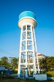 foto of water-mill  - Tank of Water Treatment Plant Water and blue sky background - JPG