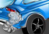 image of exhaust pipes  - smoking exhaust - JPG