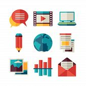 picture of blog icon  - Media and communication set of blog icons - JPG