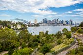 pic of cbd  - The Sydney CBD and surrounding harbour over Berrys Bay - JPG