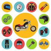 picture of biker  - Motorcycle set - JPG