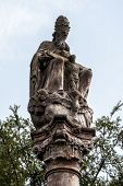 image of trinity  - Statue of The Holy Trinity in a park in Litovel - JPG
