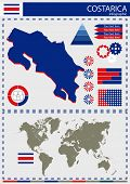 pic of nationalism  - vector Costarica illustration country nation national culture - JPG