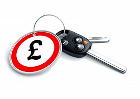 stock photo of tariff  - A concept illustrating the business of buying and selling cars  - JPG