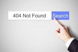 picture of not found  - finger pushing web search button 404 not found error message - JPG