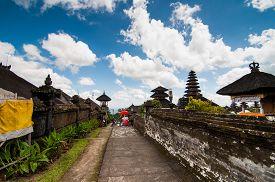 picture of hindu  - Besakih temple in Bali island - JPG
