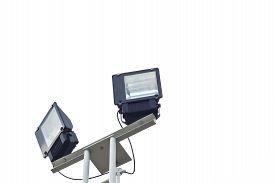 image of light-pole  - Light pole on a white backgroundStreet Light Pole  - JPG
