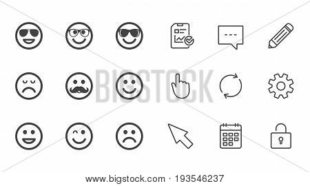Smile icons Happy