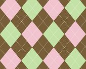 Brown Green Pink Argyle