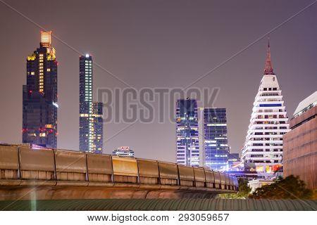skyscrapers and BTS in Bangkok