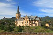 Cathedral Of Lofoten In Vagan Municipality, Norway. poster