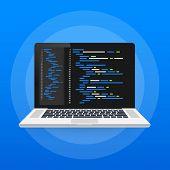 Digital Java Code Text. Computer Software Coding Vector Concept. Programming Coding Script Java, Dig poster