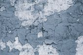 Abstract Dirty Gray Flaky Shabby Stucco For Banner Design. Wrecked Texture. Gray Stucco Wall Backgro poster