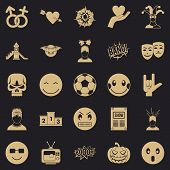 Soulful Icons Set. Simple Set Of 25 Soulful Vector Icons For Web For Any Design poster